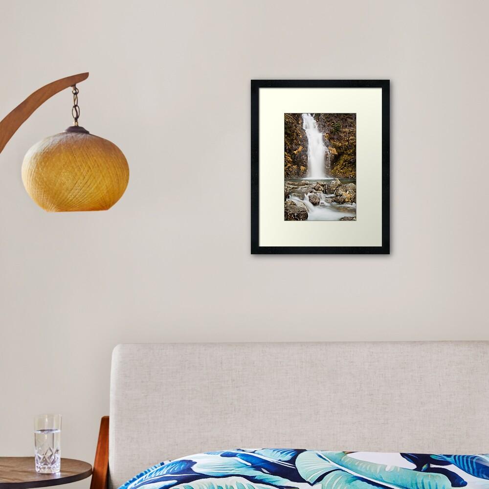 Hell Ghyll Waterfall Framed Art Print