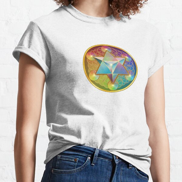 Merkabah with Flower of Life  Classic T-Shirt