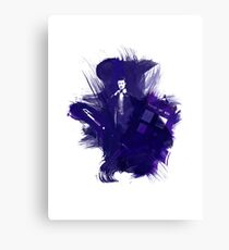 Watercolor Eleventh Doctor Canvas Print
