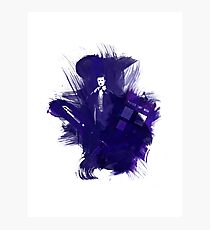 Watercolor Eleventh Doctor Photographic Print