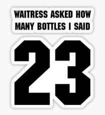 23 graphic tee Sticker