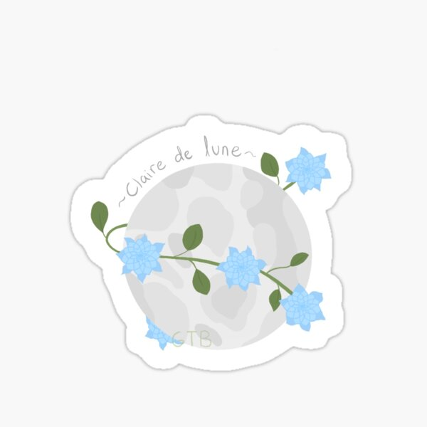 Claire De Lune Sticker