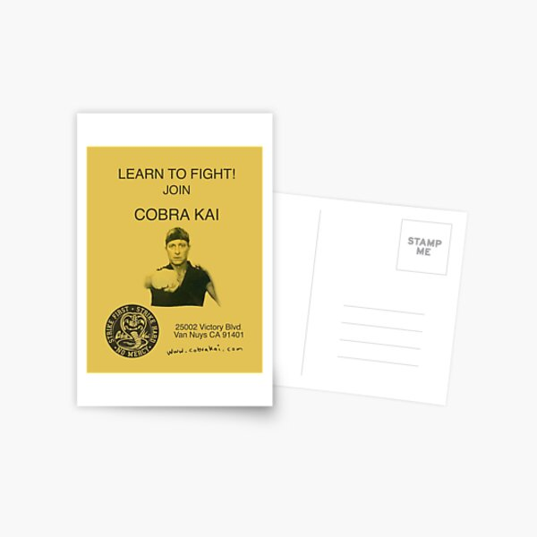 Learn to Fight! Join Cobra Kai Poster Postcard
