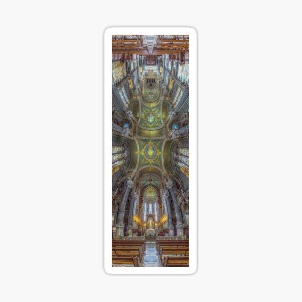 La Basilique Notre Dame de Fourviere, Lyon, France Sticker