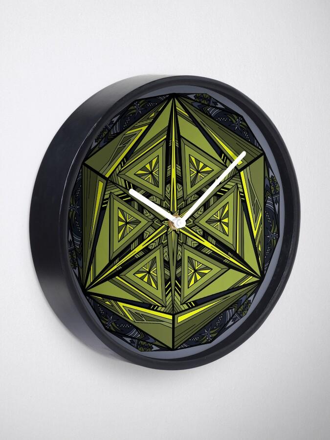 Alternate view of Sticky Weeds Mandala Clock