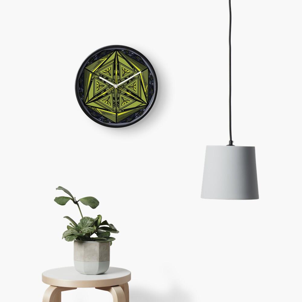 Sticky Weeds Mandala Clock
