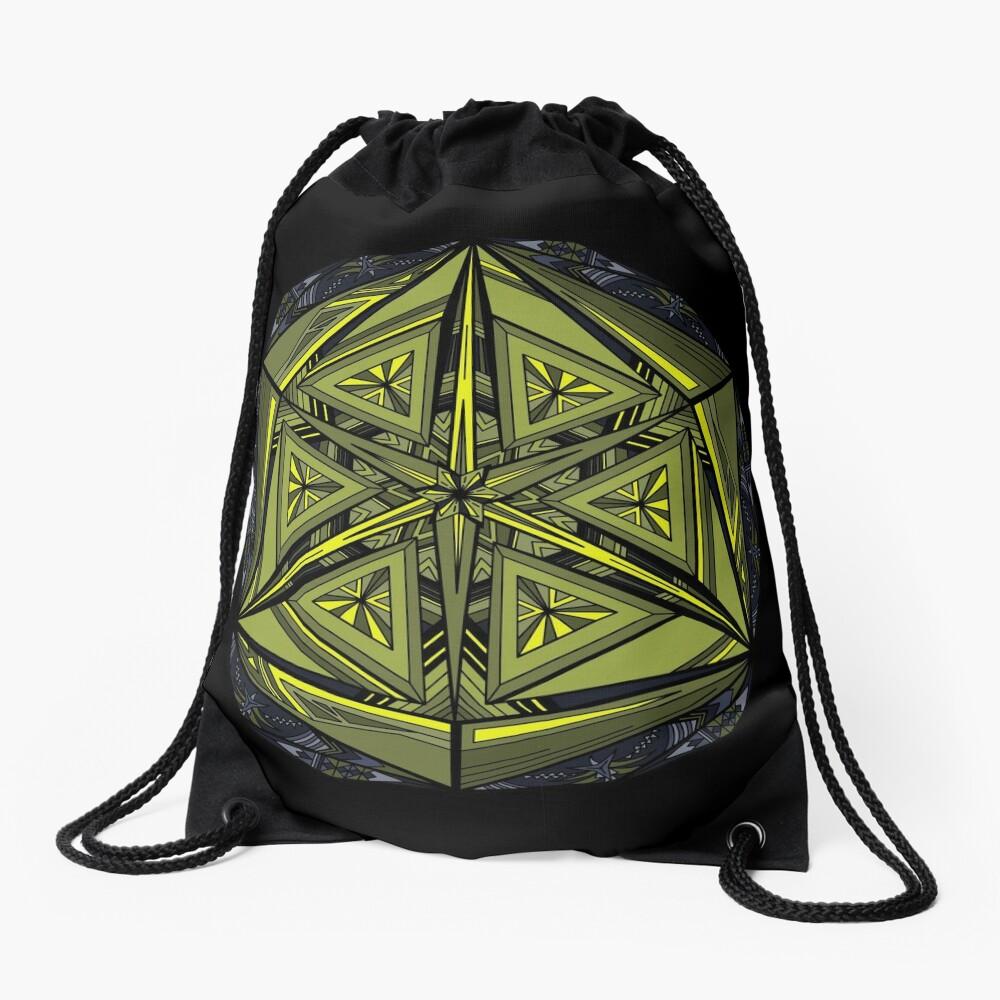Sticky Weeds Mandala Drawstring Bag
