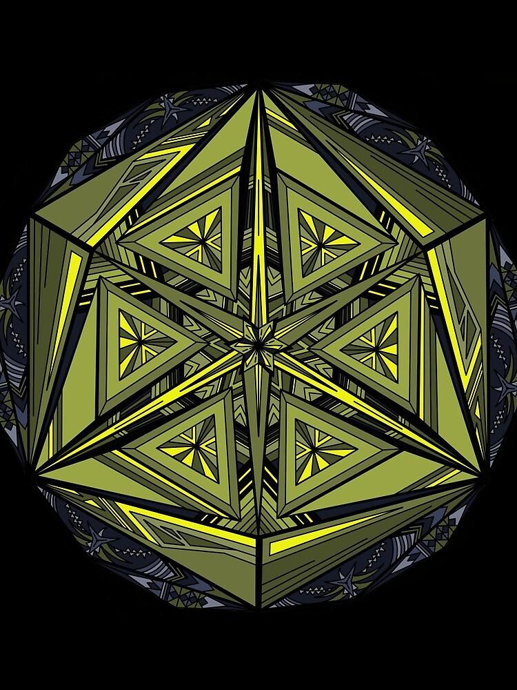 Sticky Weeds Mandala by akayeart