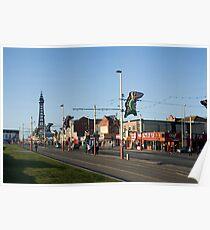 Blackpool street scene Poster