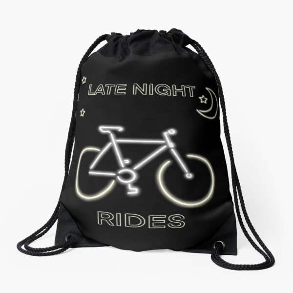 Late Night Rides V2 Drawstring Bag