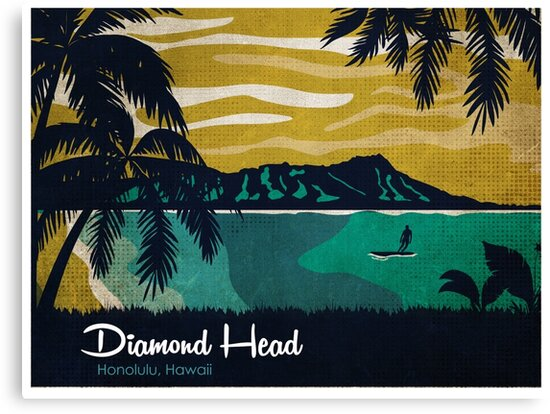 Diamond Head Hawaii by PatinoDesign