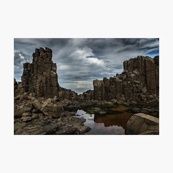 Rocks and storm Photographic Print