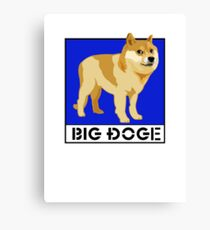 "Dogecoin inspired by ""Big Dogs"" Canvas Print"