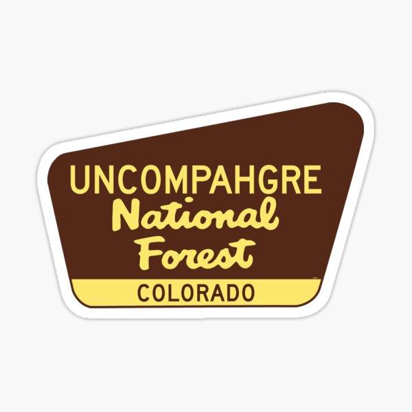 Uncompahgre National Forest Colorado Sign Sticker