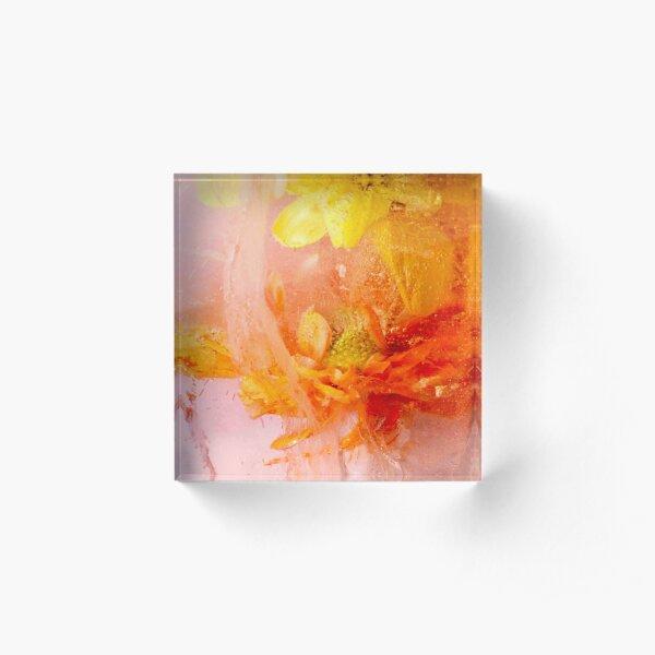 Orange and Yellow Daisies Acrylic Block