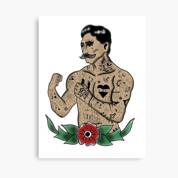 Tattooed Fighter Canvas Print