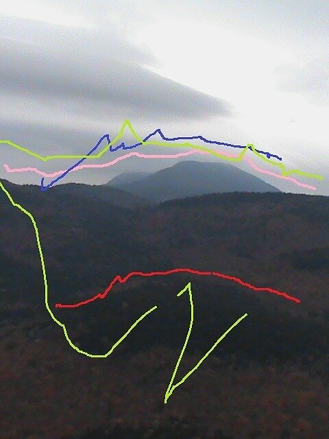 White Mountains with energy lines by beckalbright