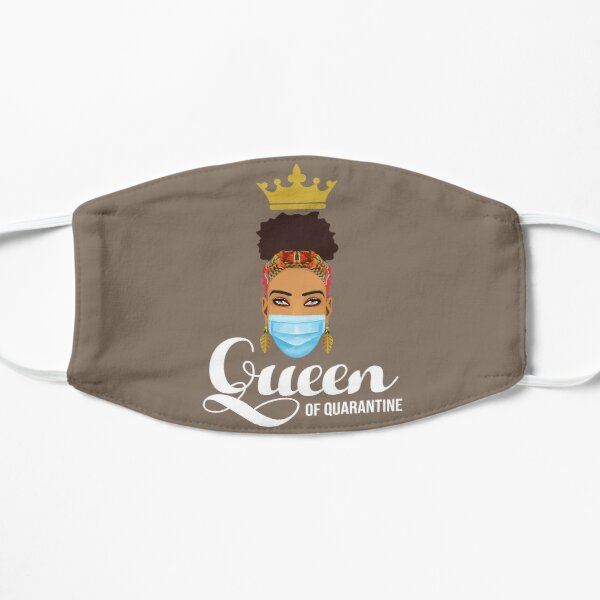 Queen of Quarantine Flat Mask