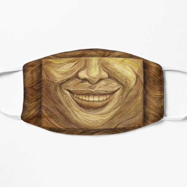 """Wood"" painting - ""Smile"" Fine Art series Mask"
