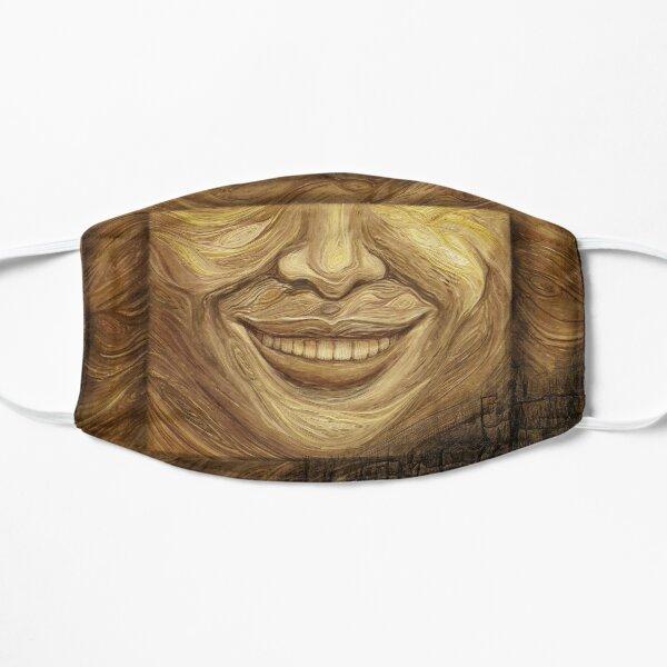 """""""Wood (Burnt)"""" painting - """"Smile"""" Fine Art series Mask"""