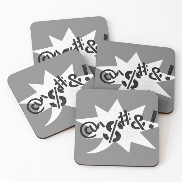 Censored (Stencil) Coasters (Set of 4)