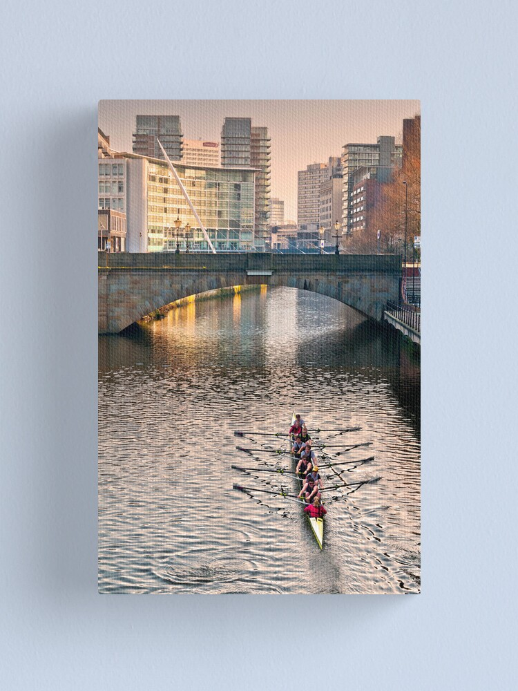 Alternate view of Rowing on the Irwell Canvas Print
