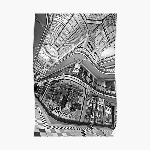 Barton Arcade, Manchester (B&W) Poster