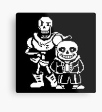 Sans and Papyrus from Undertale Metal Print