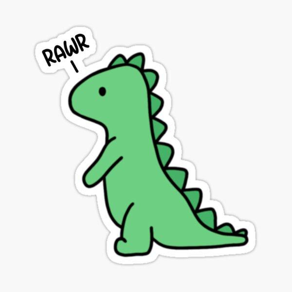 Rawr Dinosaur Small Sticker