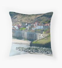 Robin Hoods Bay, North Yorkshire Throw Pillow
