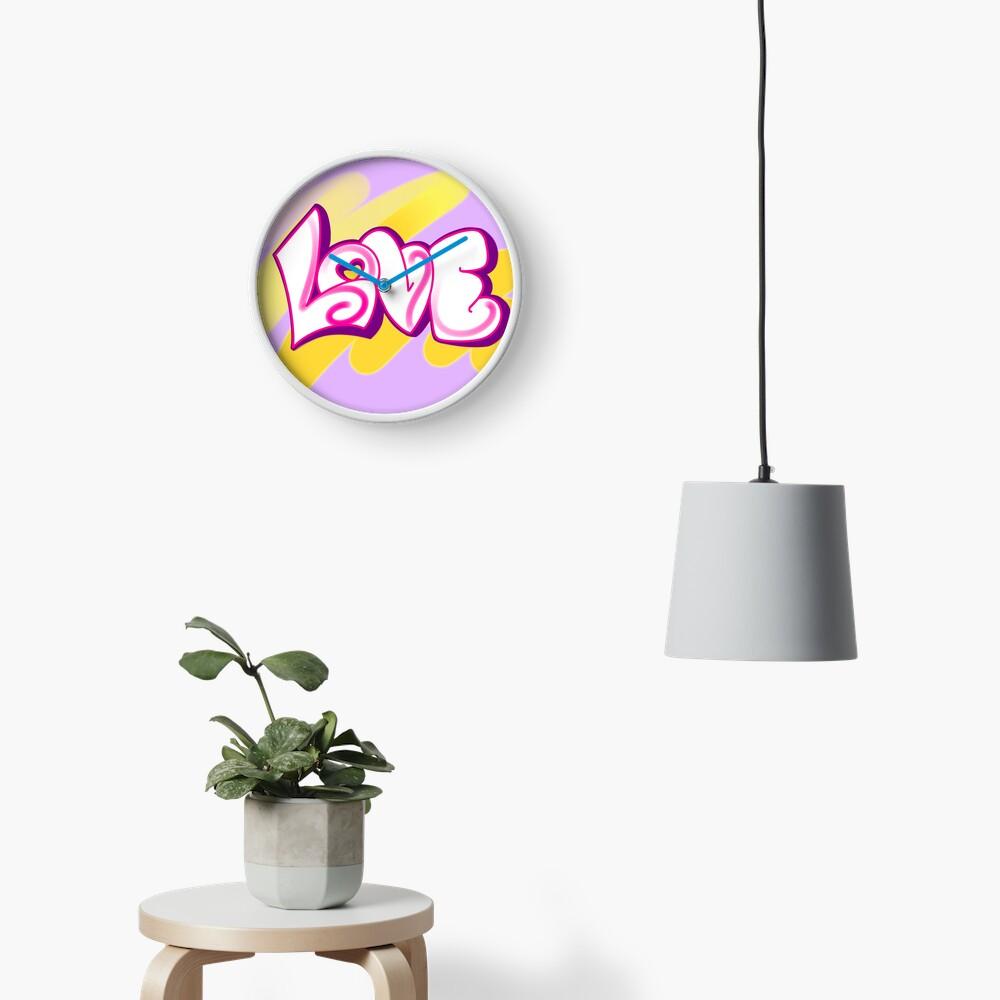 LOVE (graffiti) Clock