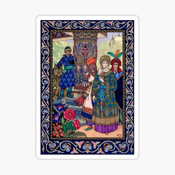Ivan Sees the Fair Elena Boris Zvorykin Sticker