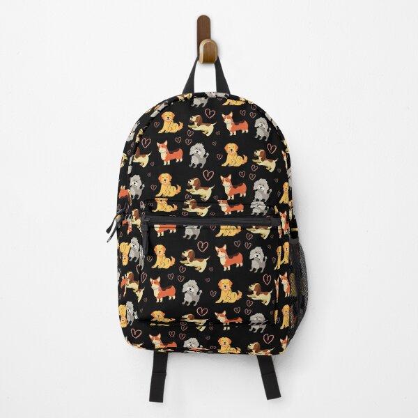 Dog Pattern Backpack