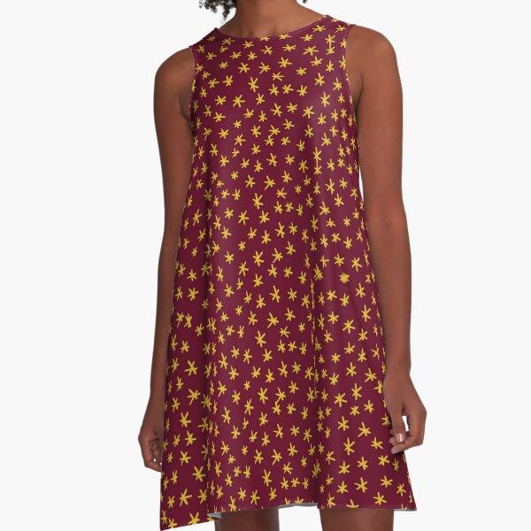 Star pattern A-Line Dress