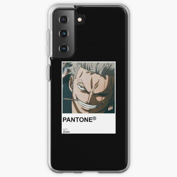 Zoro Anime Pantone Sticker  Samsung Galaxy Soft Case