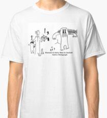 Human & Hairy Man Pictographs Classic T-Shirt