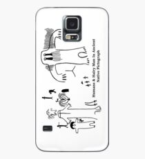 Human & Hairy Man Pictographs Case/Skin for Samsung Galaxy