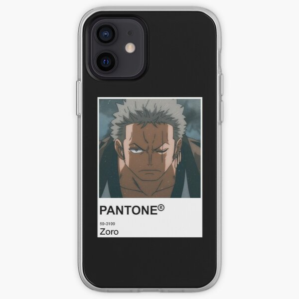 Zoro Anime Pantone Sticker  iPhone Soft Case