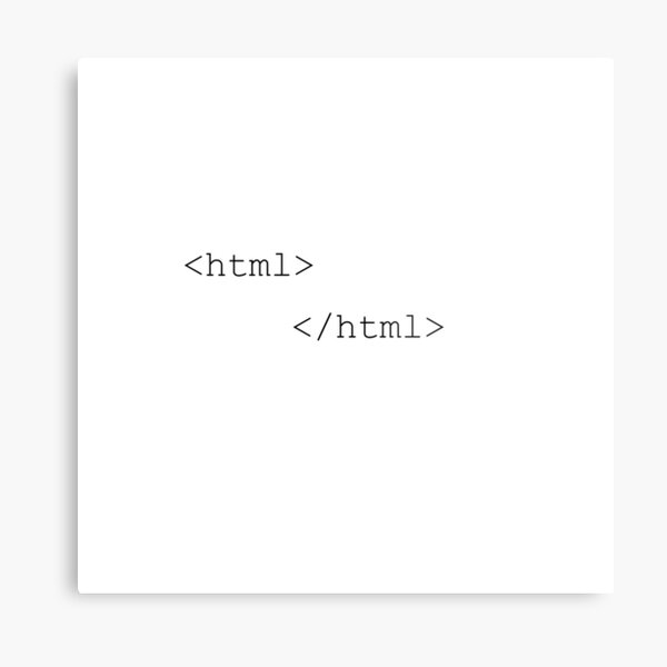 html beginning and end tag Metal Print