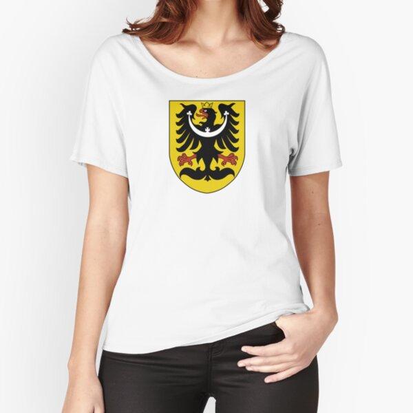 Upper Silesia Schläsing Wroclaw Silesia T-Shirt Old German with Crest