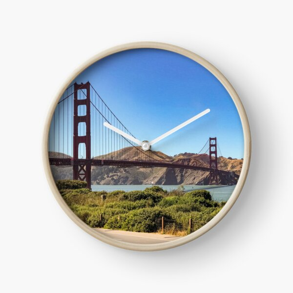 Golden Gate Bridge Daylight Clock