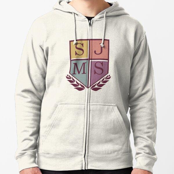 SJMS Logo Zipped Hoodie