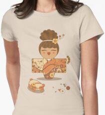 Flower Kimono Kokeshi Girl 1 T-Shirt