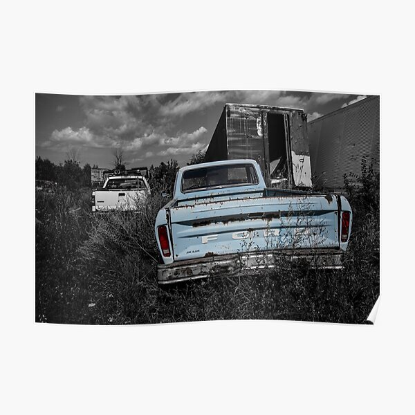 Baby Blue Ford Poster