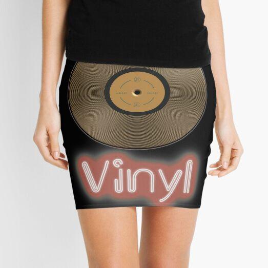 Vinyl record retro design Mini Skirt