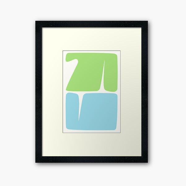 Glyphs Framed Art Print