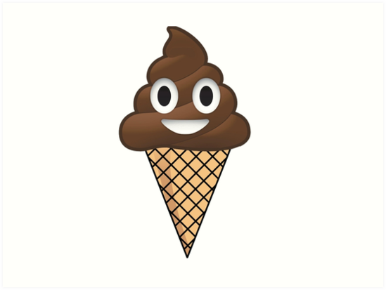 Poop Emoji Ice Cream Art Prints By Imperialdesign Redbubble