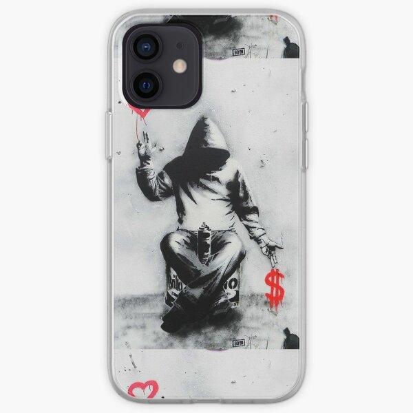 Banksy Love Over Money Iconic Street Art iPhone Soft Case