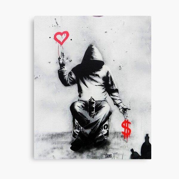 Banksy Love Over Money Iconic Street Art Canvas Print