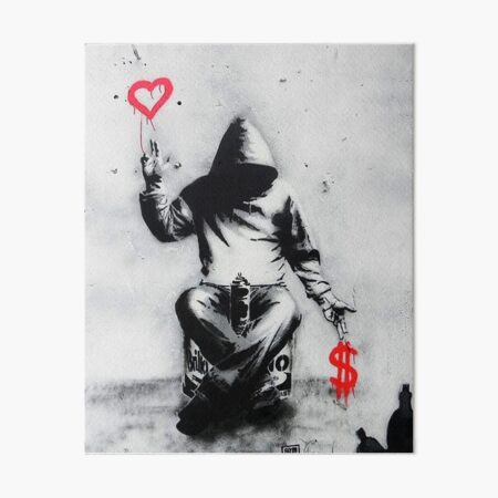 Banksy Love Over Money Iconic Street Art Art Board Print